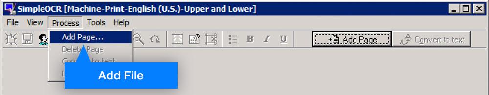 Add file to SimpleOCR process