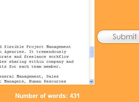 Online word count