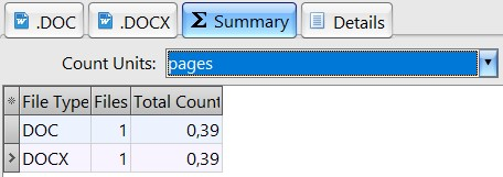 Page count results in AnyCount