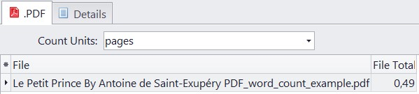 pages count in pdf