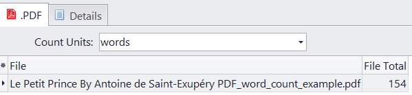 words count in pdf