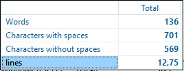 Count words in docx from clipcount