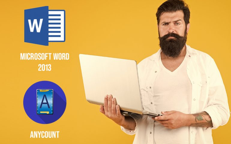Word-count in Microsoft Word 2013 and AnyCount