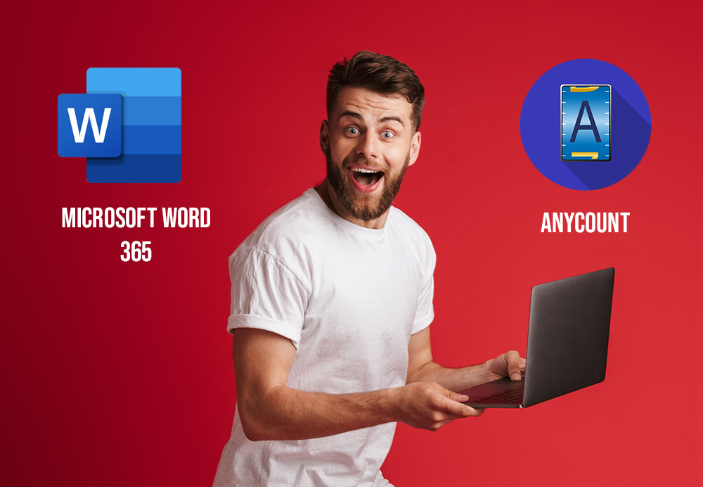 Word-count in microsoft word 365 and Anycount