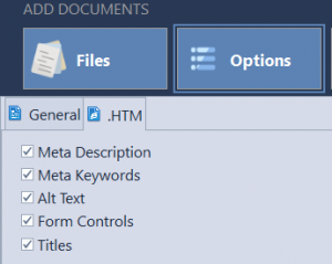 HTML count settings