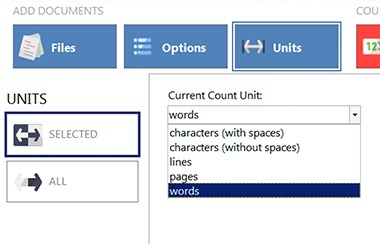 AnyCount word-count tool allows to customize your count units