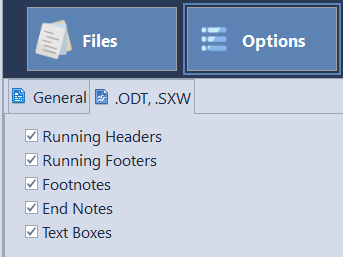 AnyCount - Word count settings for .ODT format