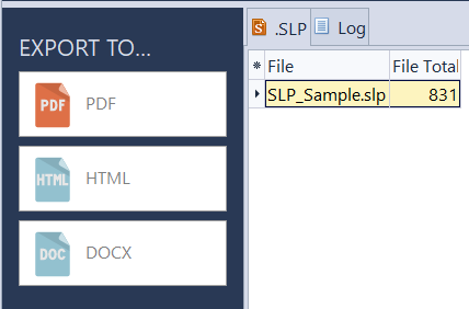 Word Count Results in SLP file format