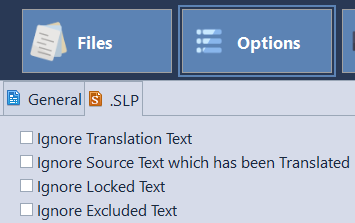 Word Count Settings in SLP file format
