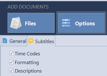 Word count options in Subtitle files