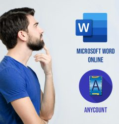 Word count, character count, and line count in Word Online