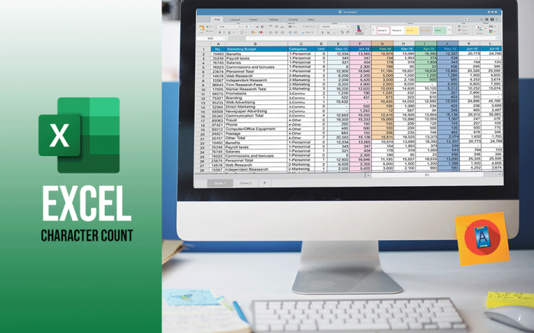 How to do an Excel character count?